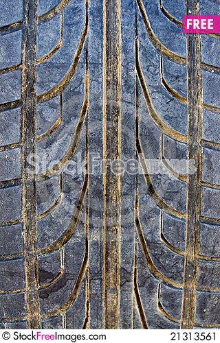 Free Close Up Old Tires Stacked Stock Image - 21313561