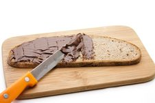 Free Bread With Chocolate Cream Stock Image - 21310341