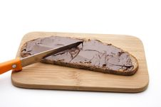 Free Bread With Chocolate Cream Royalty Free Stock Images - 21310369