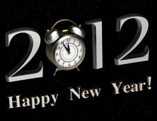 Free Background For New 2012 Year Royalty Free Stock Image - 21310906