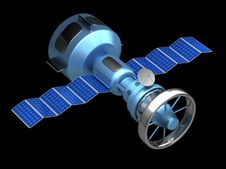 Model Of An Artificial Satellite Stock Images