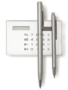Free Calculator And Two Pens Stock Photo - 21312250