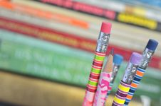 Free Closeup Of Colored Pencils Stock Photo - 21314650