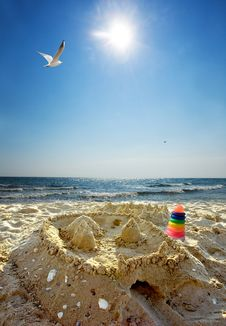 Free Sand Castle Royalty Free Stock Image - 21316066