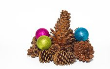 Group Of Pine Cones Royalty Free Stock Photo