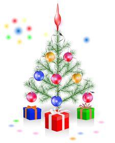 Free Christmas Tree Decoration Royalty Free Stock Photos - 21317788
