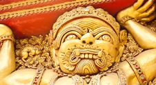 Free A Giant Stucco In A Thai Temple Stock Photo - 21317930