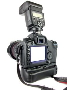 Free Professional Camera Rear LCD Royalty Free Stock Photos - 21319058