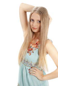 Free Beautiful Woman With Elegant Sundress Royalty Free Stock Photos - 21319578