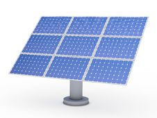 Free 3d Solar Blue Energy Photovoltaic Royalty Free Stock Photography - 21319967