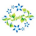 Free Element Of An Ornament With Blue Flowers 4 Stock Photography - 21322772