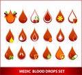 Free Creative Medic Blood Drops Symbols Set Stock Photo - 21328750