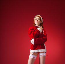 Free Sexy Santa Girl Royalty Free Stock Image - 21320076