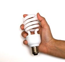 Free Light Bulb On Hand. Royalty Free Stock Images - 21320249