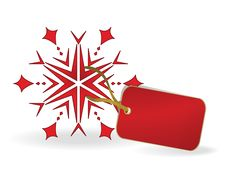 Free Snowflake With A Label. Eps10 Stock Photography - 21320512