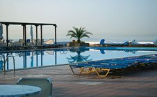 Vacation Resort Pool Area Stock Photos