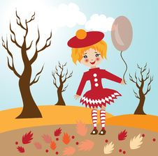 Free Child Autumn Illustration Royalty Free Stock Photography - 21323987