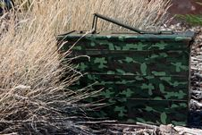 Free Geocache Ammo Can Hide Stock Photos - 21324043