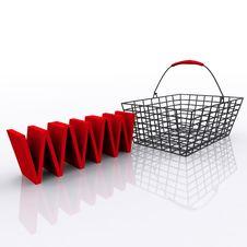 Free Shopping Net Basket Stock Images - 21324534
