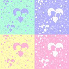 Free Seamless Pattern Of Love Royalty Free Stock Photo - 21324695