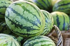 Free Watermelons In A Market Stock Image - 21324801