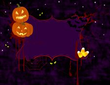 Halloween Banner Stock Photo