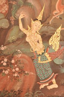 Free Thai Painting Royalty Free Stock Photography - 21326967