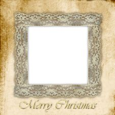Free Old Empty Photo Frame For Christmas Royalty Free Stock Photography - 21328787