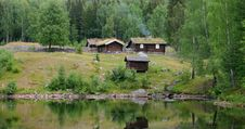 Norwegian Hut Royalty Free Stock Photography