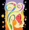 Free Rainbow Exotic Flower Stock Photo - 21332920