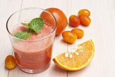 Free Tomatoes And Orange Juice Stock Photography - 21330712