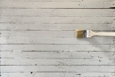 Grunge Plank And Brush Stock Photos