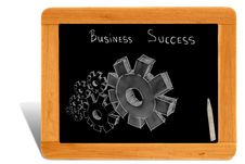 Free Gears On Black Board Wooden Frame Royalty Free Stock Images - 21332549