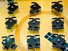 Free Row Of Table In Cafeteria Royalty Free Stock Image - 21333346