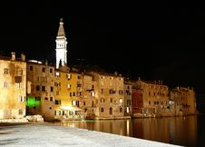 Free Night Rovinj Bay Stock Photos - 21335023