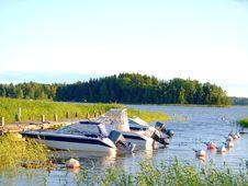 Boats At Bay Royalty Free Stock Photos