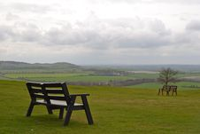 Whipsnade Benches Royalty Free Stock Image
