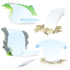 Free White Paper Letter - Nature Background Stock Image - 21336931