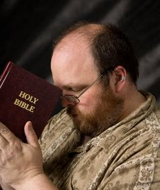 Free Man With Bible Royalty Free Stock Images - 21337139