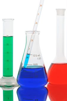 Free Chemical Glass With Color Liquid Royalty Free Stock Photo - 21337545