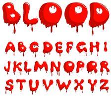 Blood Alphabet Stock Image
