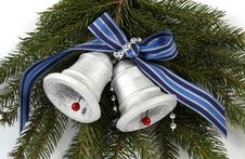 Free Silvery Bells Royalty Free Stock Photography - 21337717