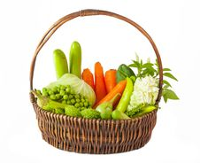Free Vegetables In Basket Stock Photo - 21338330