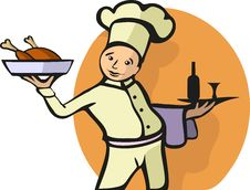 Free Illustration Of A Chef S Profession Royalty Free Stock Images - 21338359