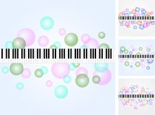 Free Music Background Set Royalty Free Stock Photos - 21338598
