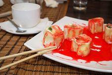 Sweet Japanise Rolls Stock Image