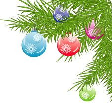 Free Christmas Background With Baubles Stock Images - 21339564