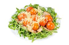 Free Salad With Arugula And Tomatoes Royalty Free Stock Photography - 21339747