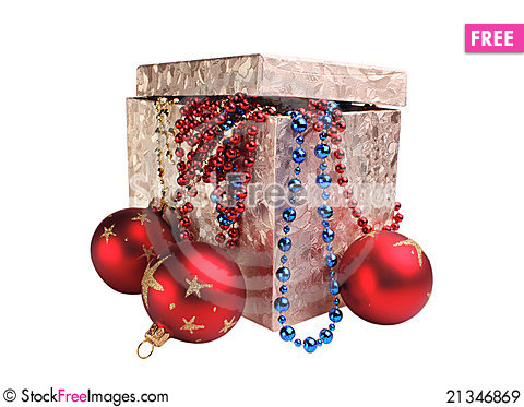 Free Box And Decorations Royalty Free Stock Images - 21346869