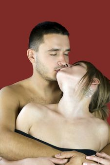 Free Kiss Of Love Stock Photography - 21340252